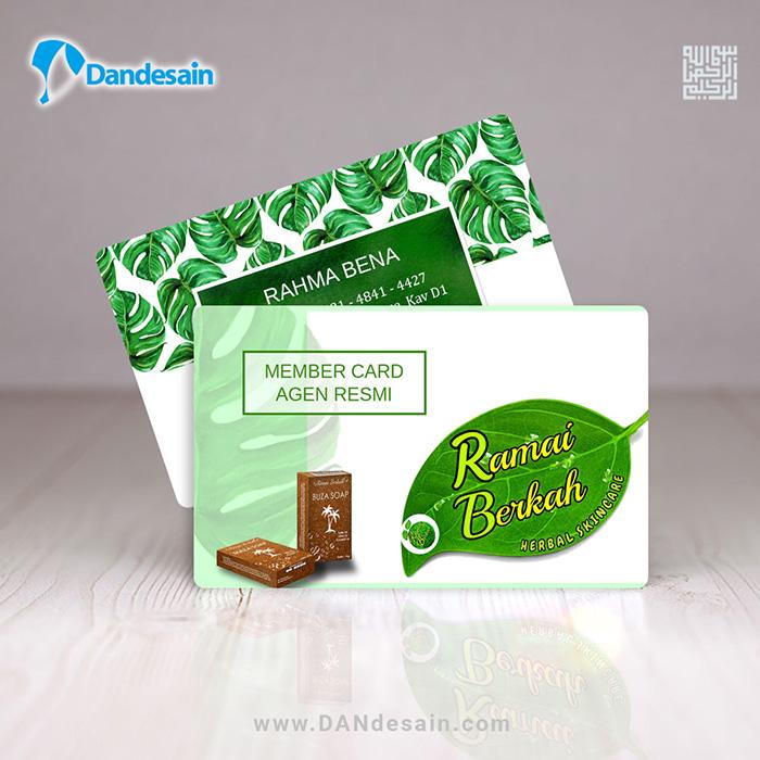Jasa Desain Wajah: [Desain] Membercard PVC 2sisi